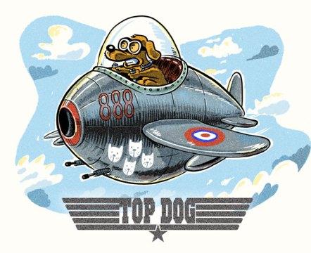 top dog cartoon
