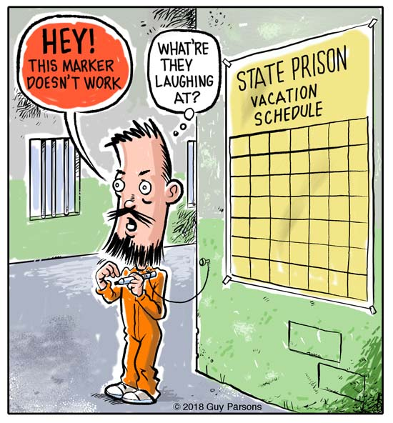 Prisoner vacation cartoon