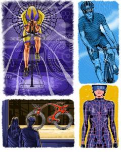 Cycling magazine illustration