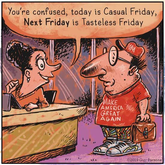 Casual Friday cartoon