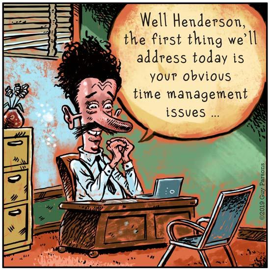 Time management cartoon
