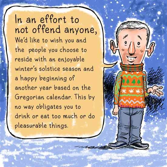 Politically correct Christmas cartoon