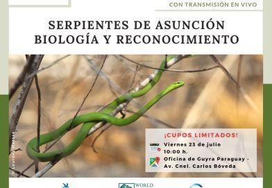 """No te pierdas de la charla """"Serpientes de Asunción: biología y reconocimiento"""""""