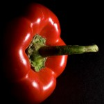 Red bell pepper, Guy Sagi, Raeford, Hoke County, North Carolina