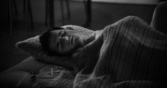 The Assistant (Daniel Berilla) sleeps on the job.