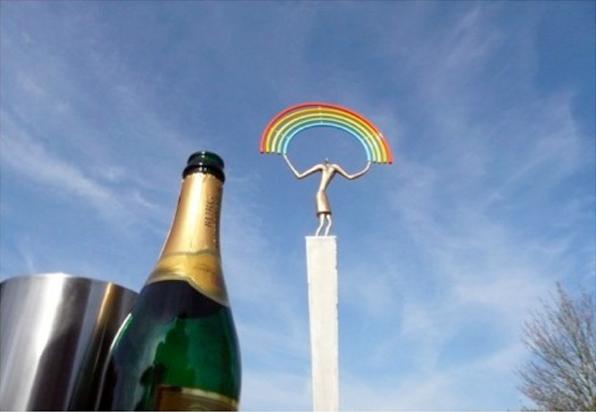 feest - de man met de regenboog