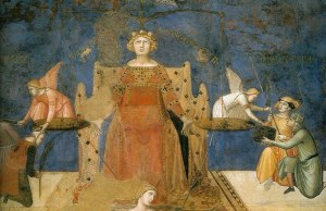 """Justice, from Lorenzetti's """"Allegory of Good Governance"""""""