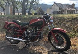 A quintessential Australian scene. Enjoying my Wednesday ride on my favourite Guzzi. 1953 Falcone with some custom mods including Dondolino tank, Grimeca brakes, Ceriani Suspension. It is a delight.