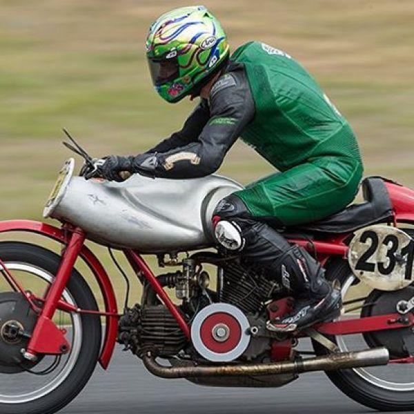 @camerondonald86 on a 1951 Moto Guzzi Bicilindrica at Broadford. What a bike. What a rider. We all travelled to Broadford to celebrate 95 years of Guzzi. What a weekend. #guzziraceraus #motoguzzibicilindrica #motoguzzi #classicbike