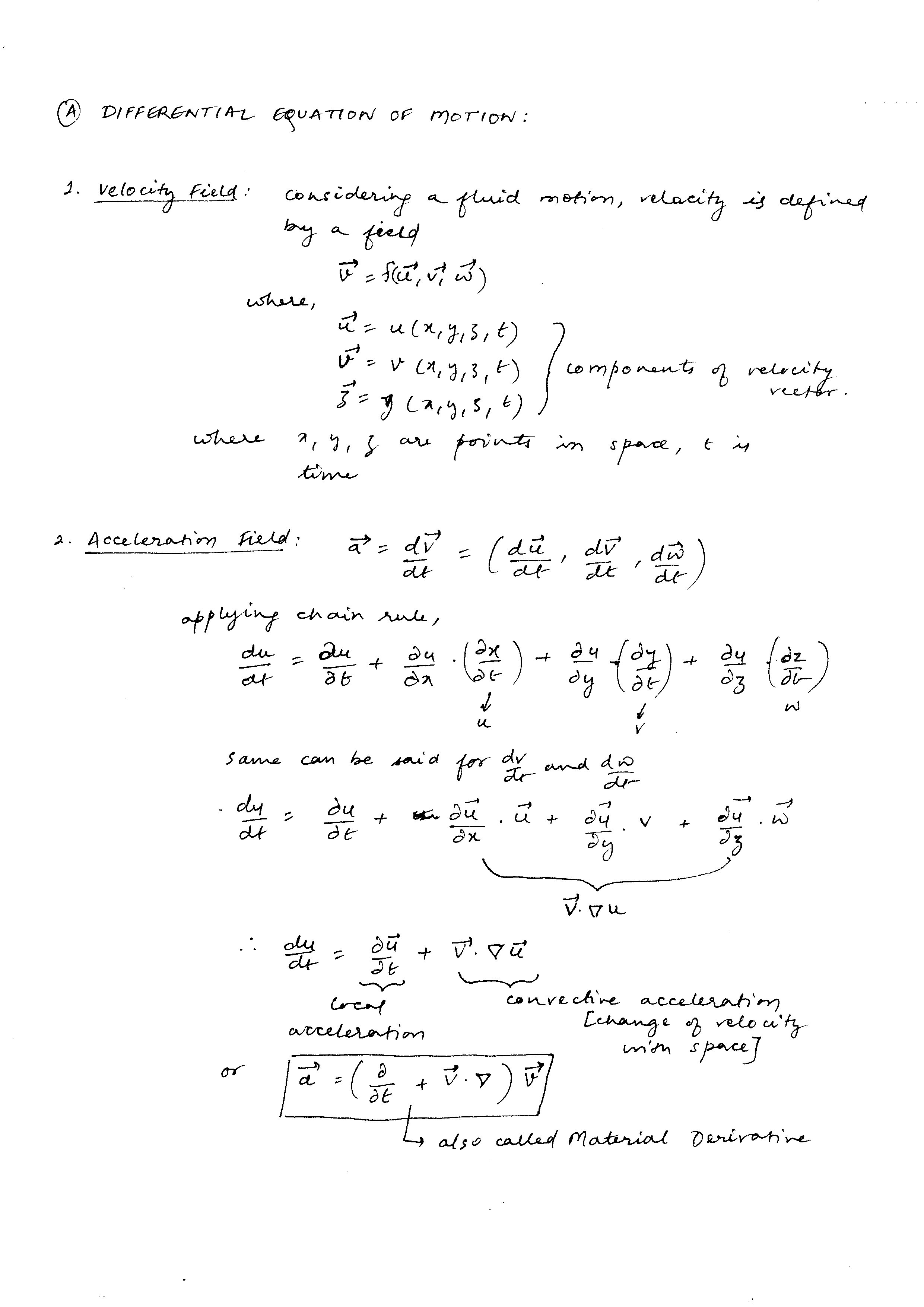 Fluid Basics 03 Differential Equations Of Fluid In