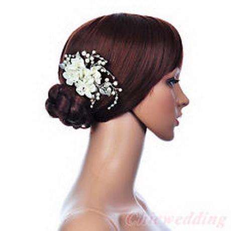 wedding flower hair clips