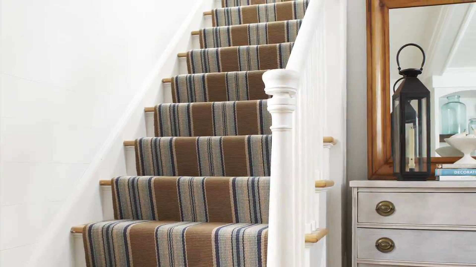 Stair Runner Carpet Learn How To Install One In 6 Steps This | End Of The Roll Stair Runners | Roger Oates | Staircase Makeover | Wall Carpet | Hallway Carpet | Stair Treads