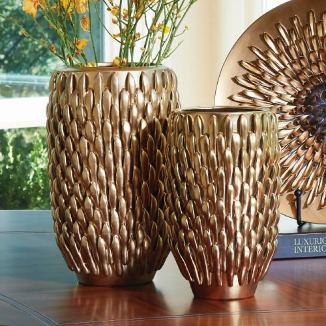 Global Views Turquoise Pebble Double Bulb Vase