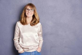 Smiling menopausal woman