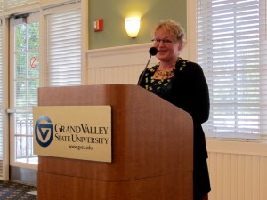 Deanna Morse shares some thoughts at her retirement reception.