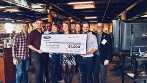 GV Ford Team receives their check from Ford