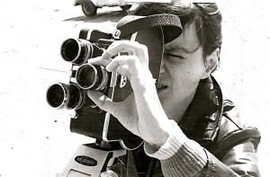 Barbara Roos uses a Bloex camera in a class in the 1970s.