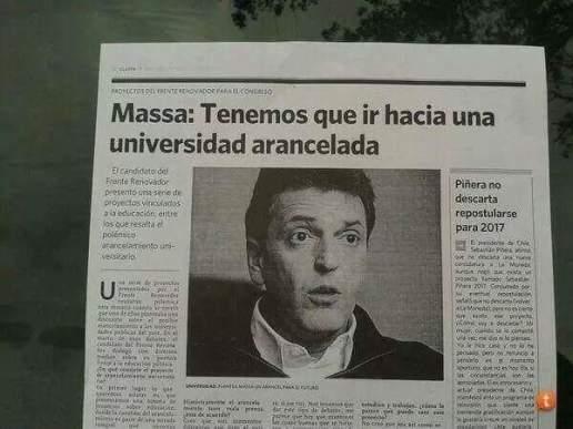 2016 - Massa - Universidad arancelada
