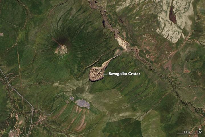 Batagaika,cráteres en Siberia,