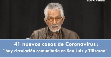 hay circulación comunitaria en San Luis y Tilisarao
