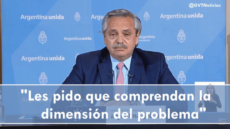 Alberto Fernández, el virus se ha diseminado por toda la Argentina