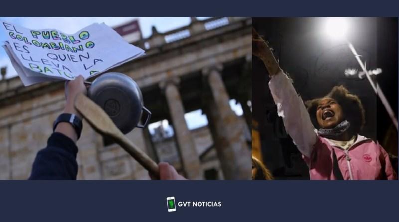 Imagenes del paro nacional en Colombia