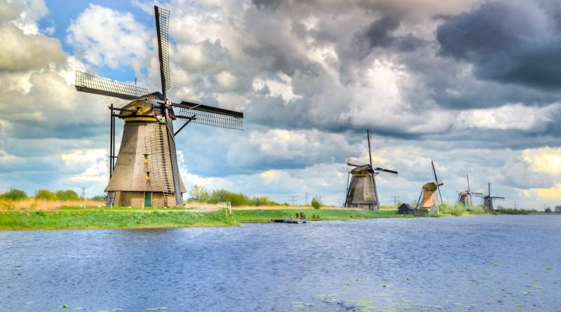 Holanda, Paises bajos, molinos de viento, pixabay, kinderdijk-3354198_1920