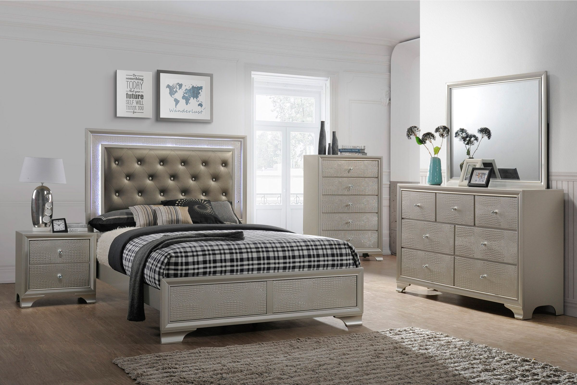 lyssa 6 piece queen bedroom set
