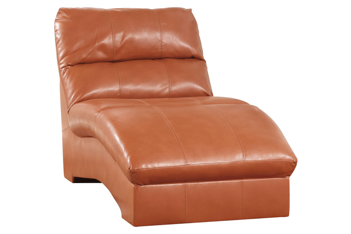 odelia leather chaise lounge