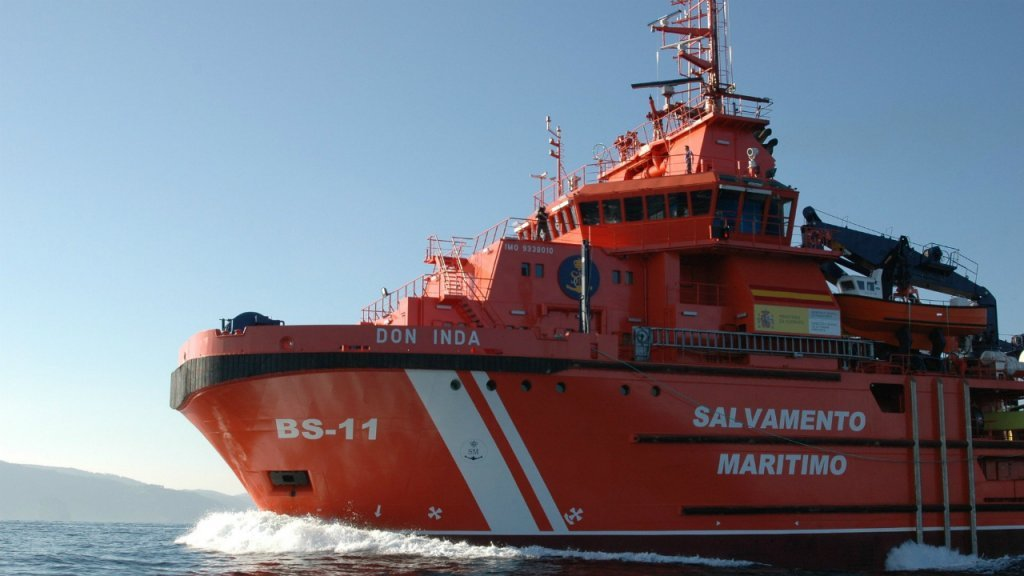 Un remorqueur d'urgence du Salvamento Maritimo / Photo : Sasemar/Twitter
