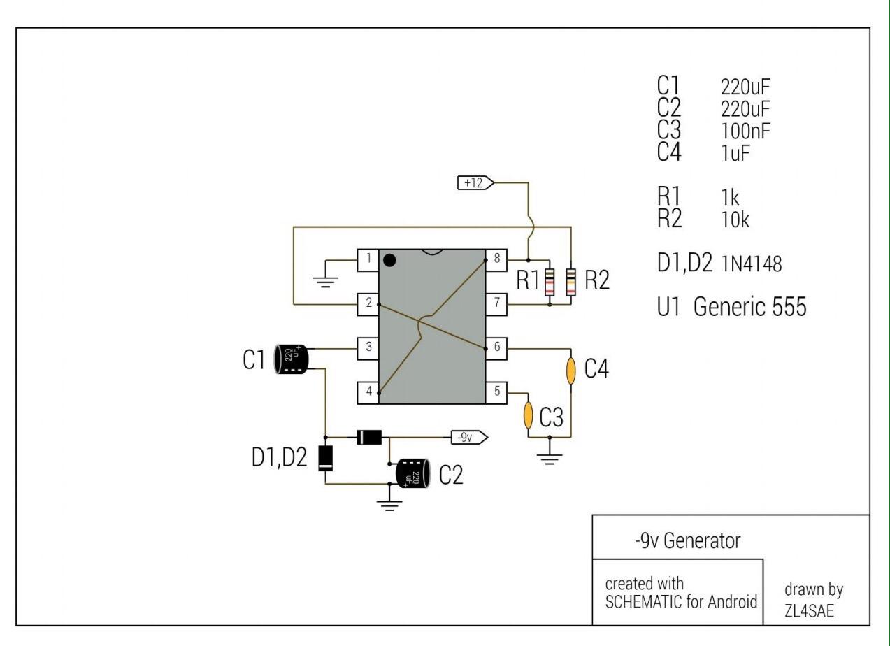 Negative Voltage Generator Using 555 Zl4sae