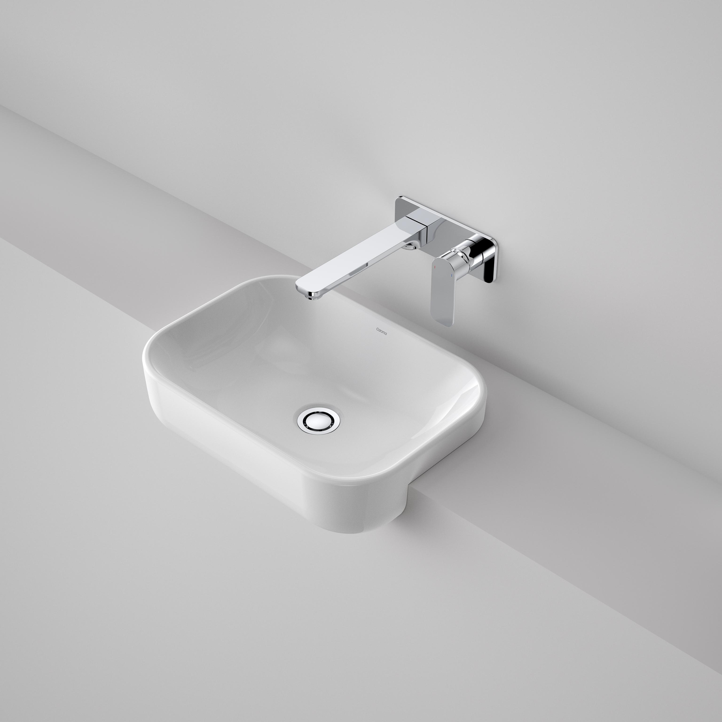 luna semi recessed basin without tap