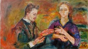 Egon Schiele, Portrait of Hans and Erica Tietze-Conrat (1909)