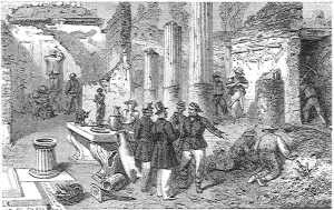 Excavations at Pompeii under the direction of Inspector Fiorelli in 1860