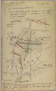 David Jones's map of the battle