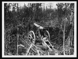 Mametz Wood: German field gun