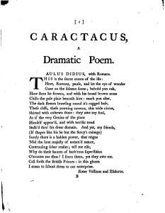 William Mason, 'Caractacus'