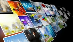 visual communication and streaming images concept