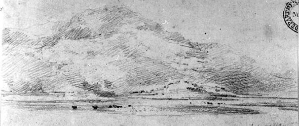 Cotman Mountain scene 1800