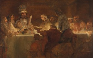 Rembrandt, The conspiracy of the Batavians under Claudius Civilis