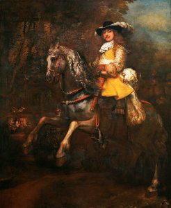 Rembrandt, Portrait of Frederik Rihel on horseback