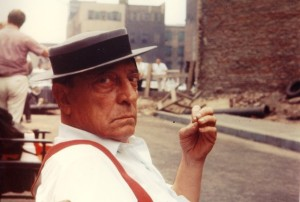 Buster Keaton on set