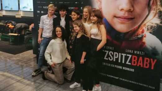 Movie premiere Platzspitzbaby Luna Vock first supporting.jpg role Zurich
