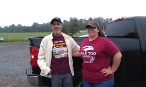 GW Carver Alumni Association, Charles Jameson, VSU intern Tiffany Patrick, support Carver hops trail at Bald Top Brewing