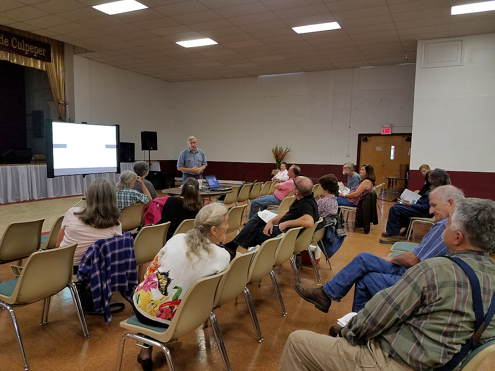 Roger Williams trains New Farmers at The Carver Center in September. VSU Small Farm Outreach Program team organized and conducted the program to focus on Nutrient Management and Soil Health.