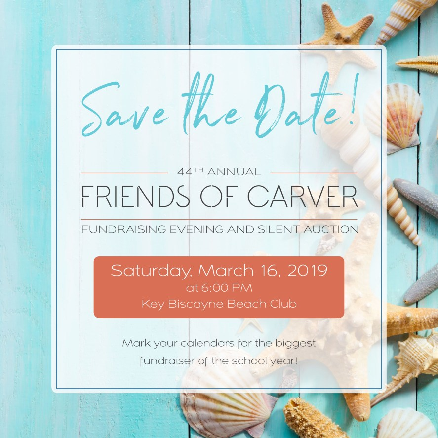 Friends of Carver 2019 Save The Date