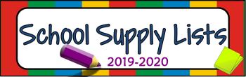 2019-2020 School Supplies