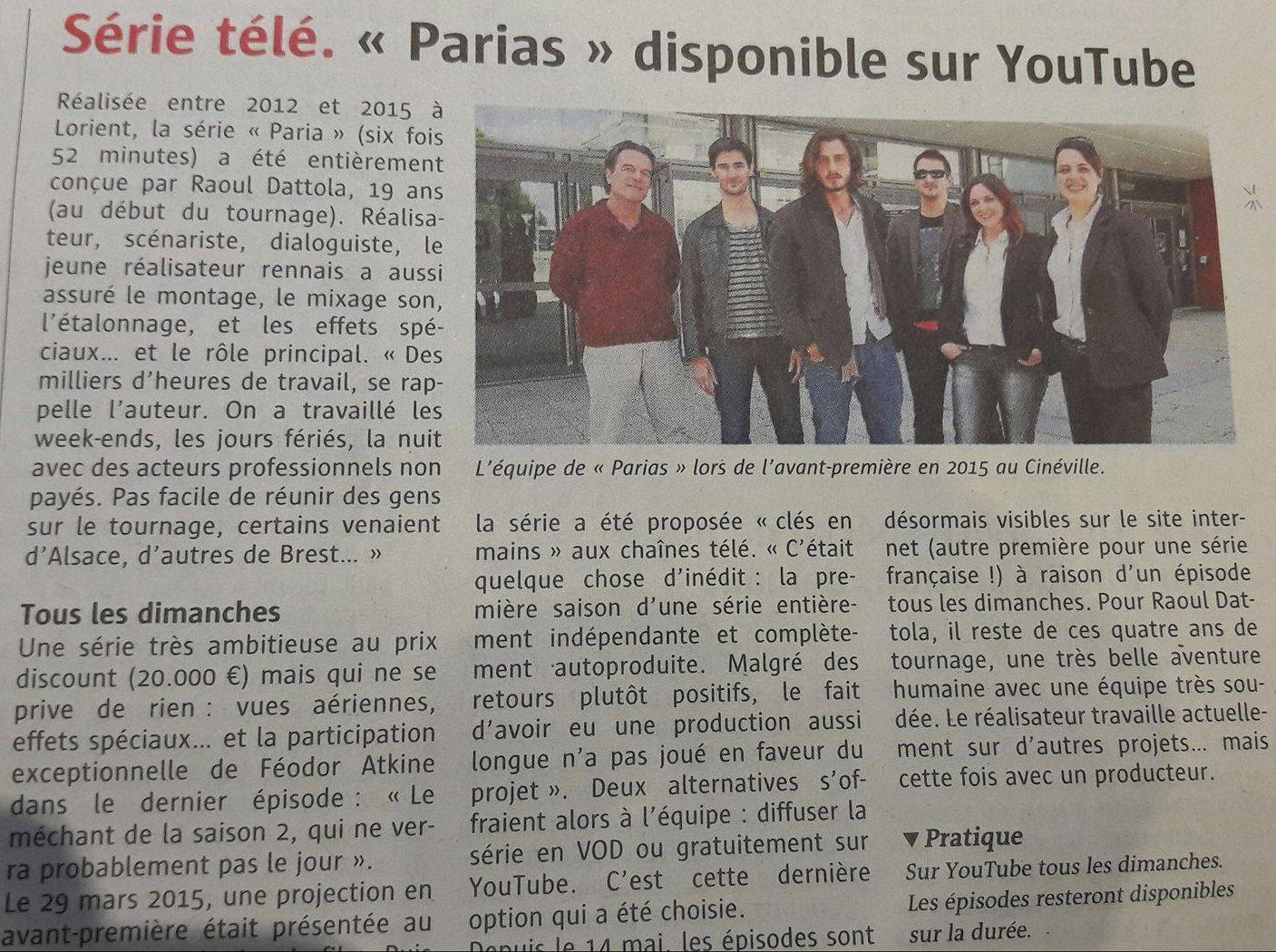 Article Le Télégramme - Parias