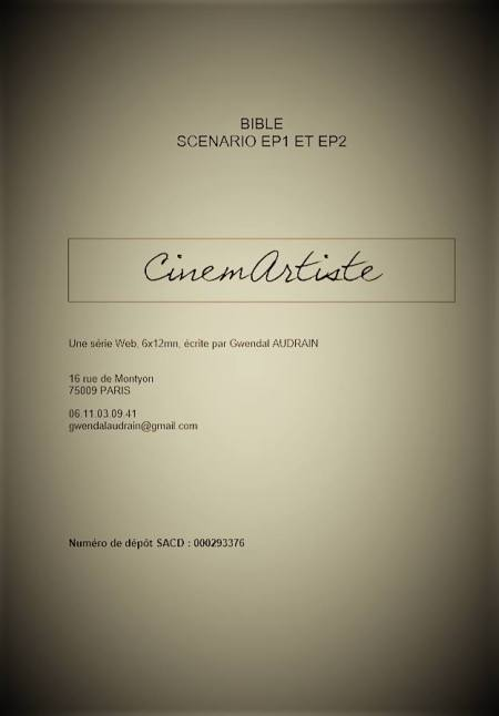 Page de couverture de la bible CinemArtiste