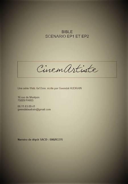 Page de couverture de la bible CinemArtiste